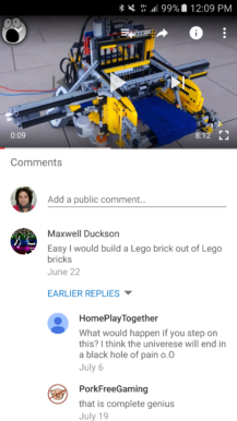 Old comments UI