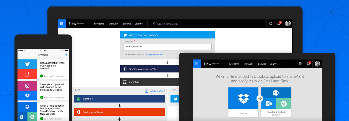 IFTTT and Tasker competitor, Microsoft Flow arrives on