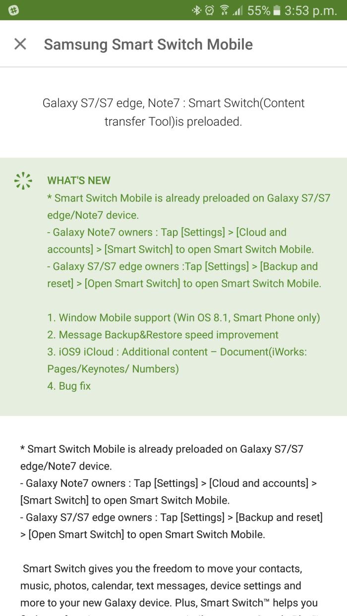 Samsung updates it's Smart Switch app to help Windows 8 1