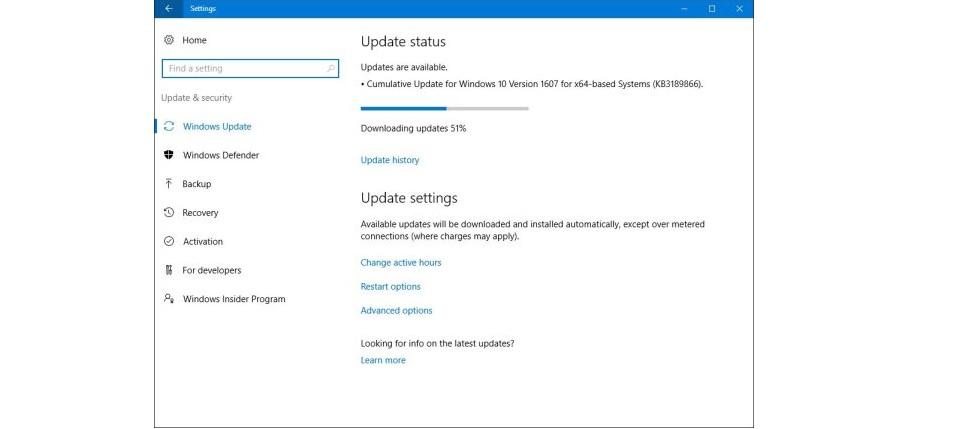 Fix : Cumulative Update KB3189866 stuck (at 45%, 95% etc